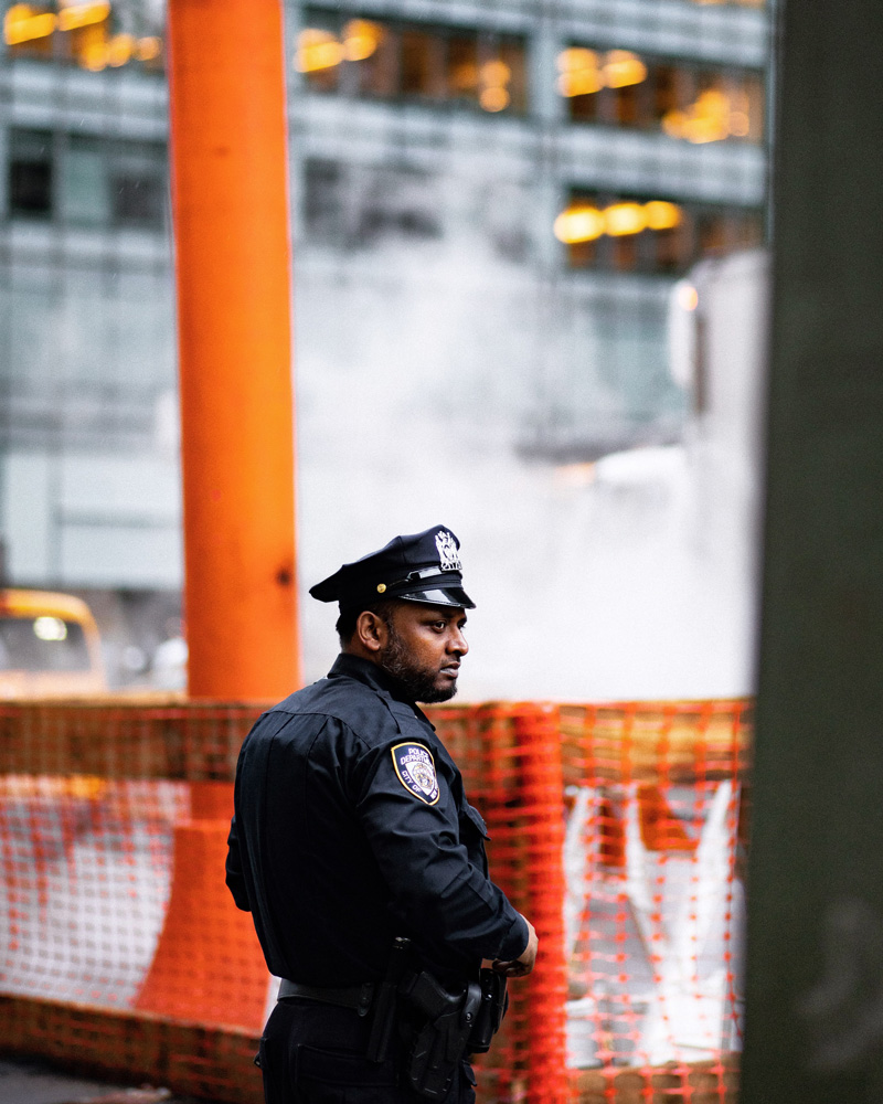 Officer on the streets