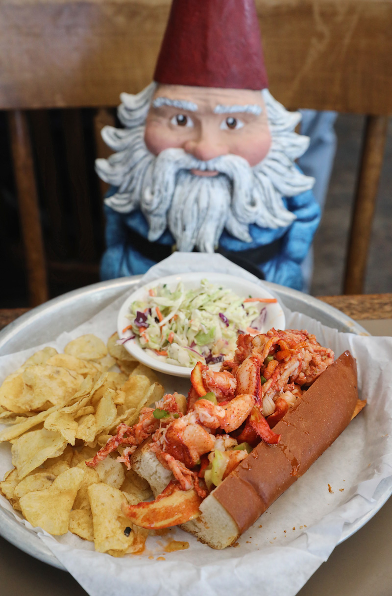 Sam's Chowder House Lobster Rolls enjoyed by the Roaming Gnome