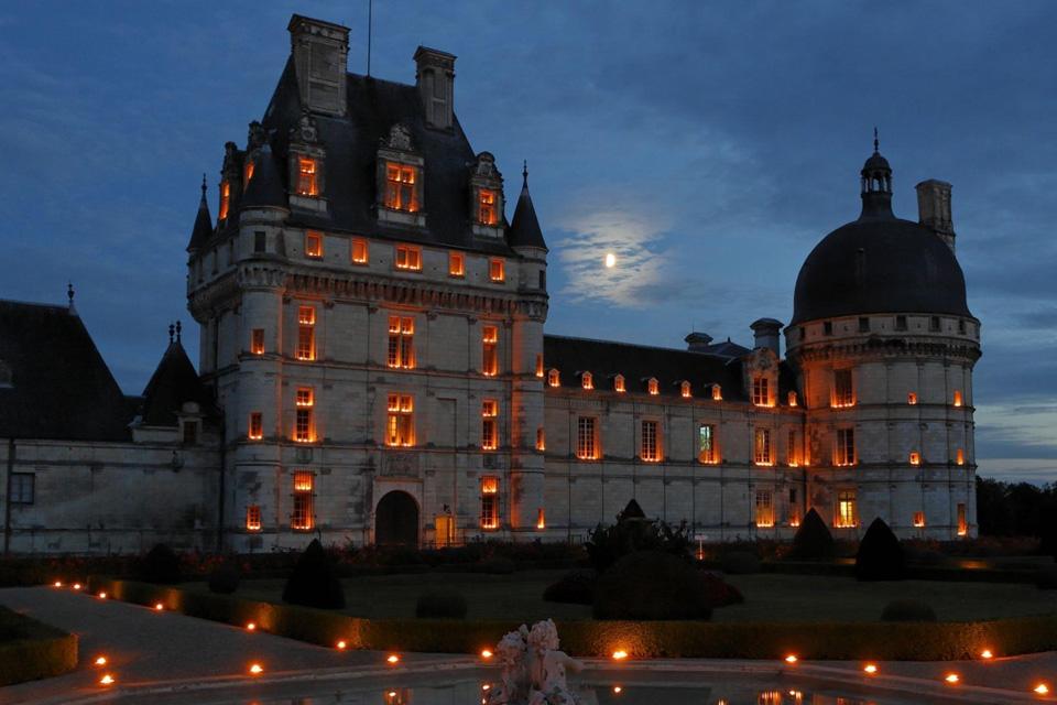 Chandelles at Château de Valençay