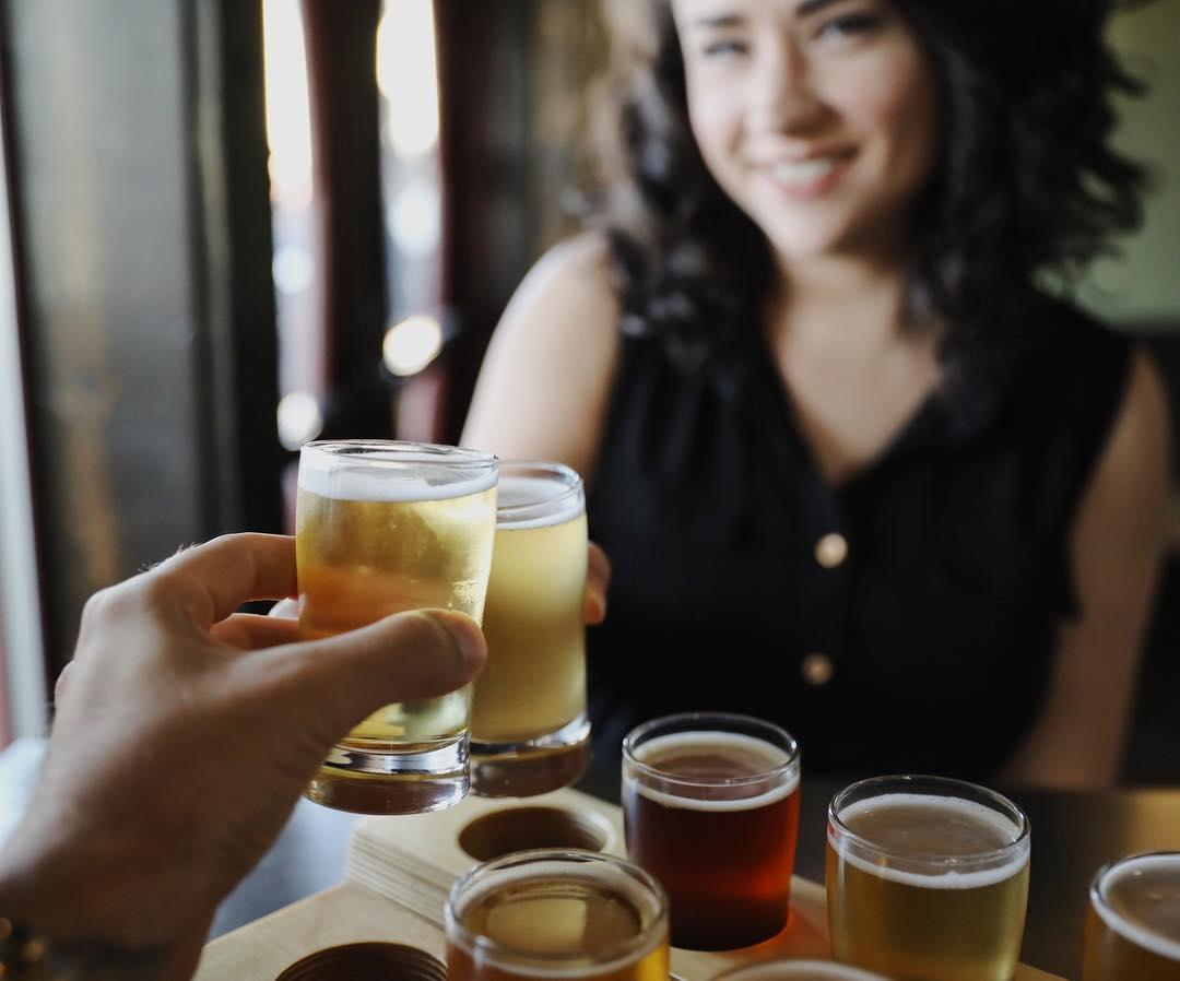 Naughty Oak Brewing Company Flights - beer tasting in the Santa Maria Valley