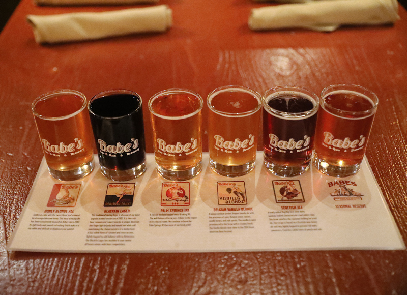 Babe's BBQ Beer Flight