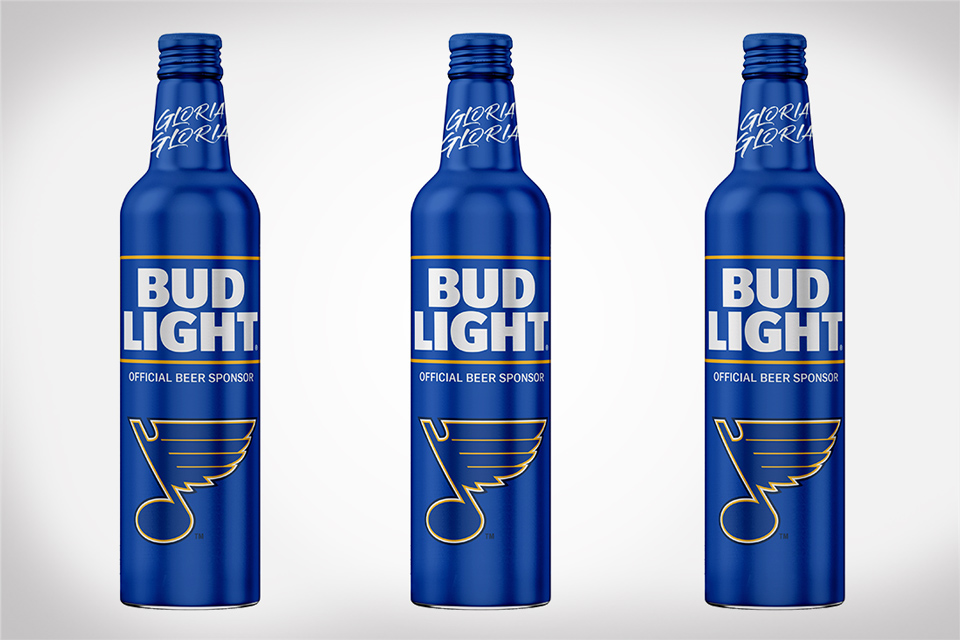 St. Louis Blues Championship Bud Light Bottles