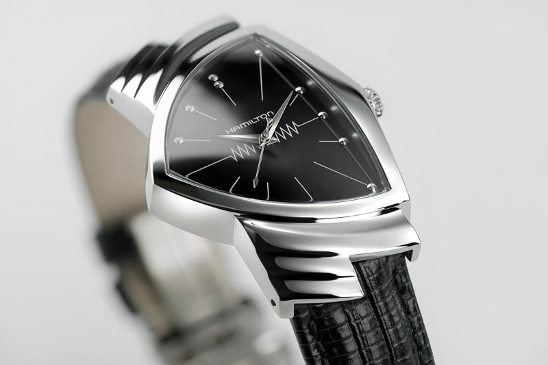 Detail shot of Men in Black watch from Hamilton
