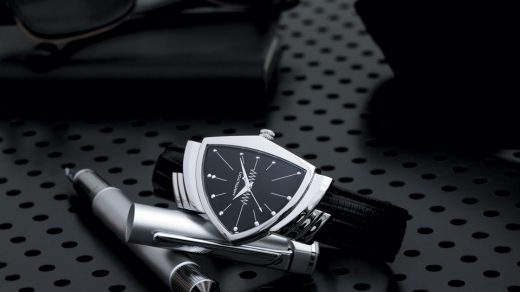 Hamilton Ventura Men in Black Watch