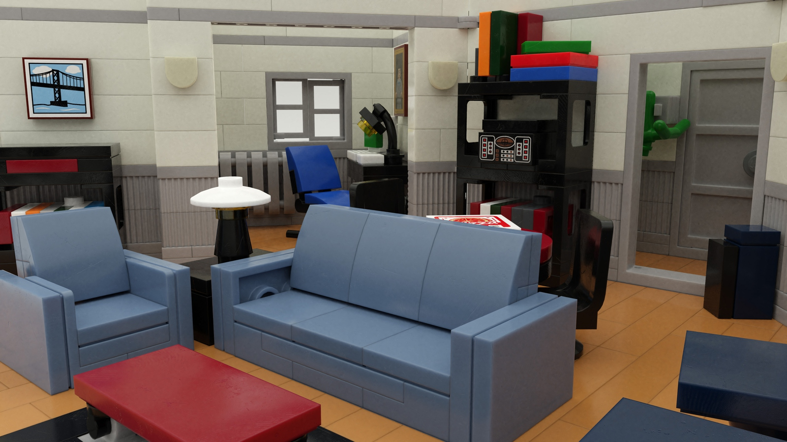 Jerry Seinfeld's Upper West Side Manhattan apartment in LEGO