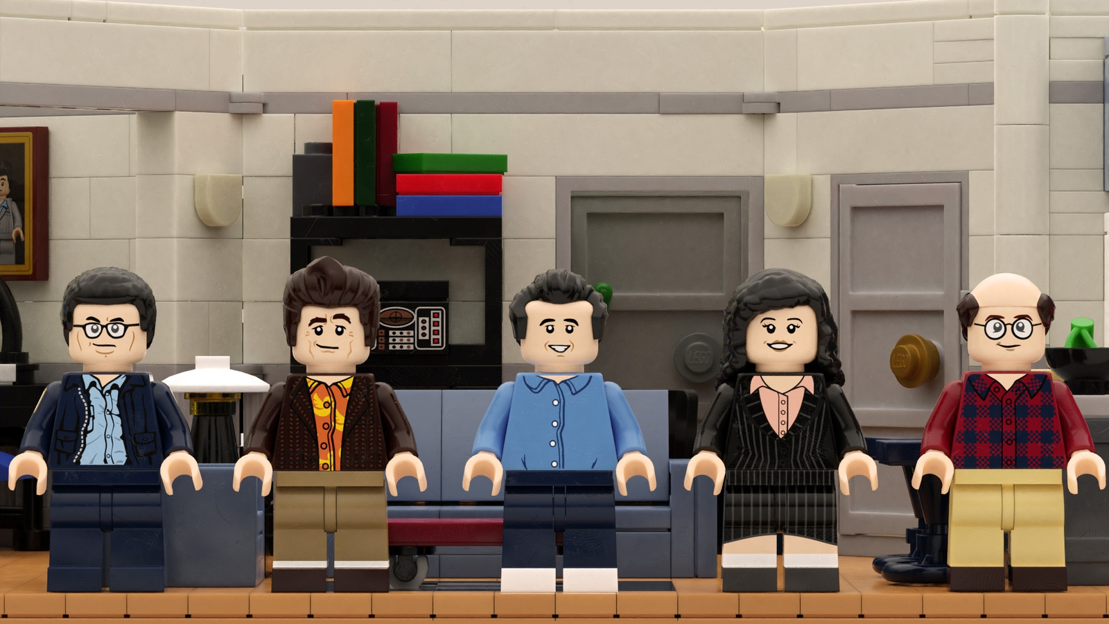 The entire Seinfeld cast as LEGO figurines