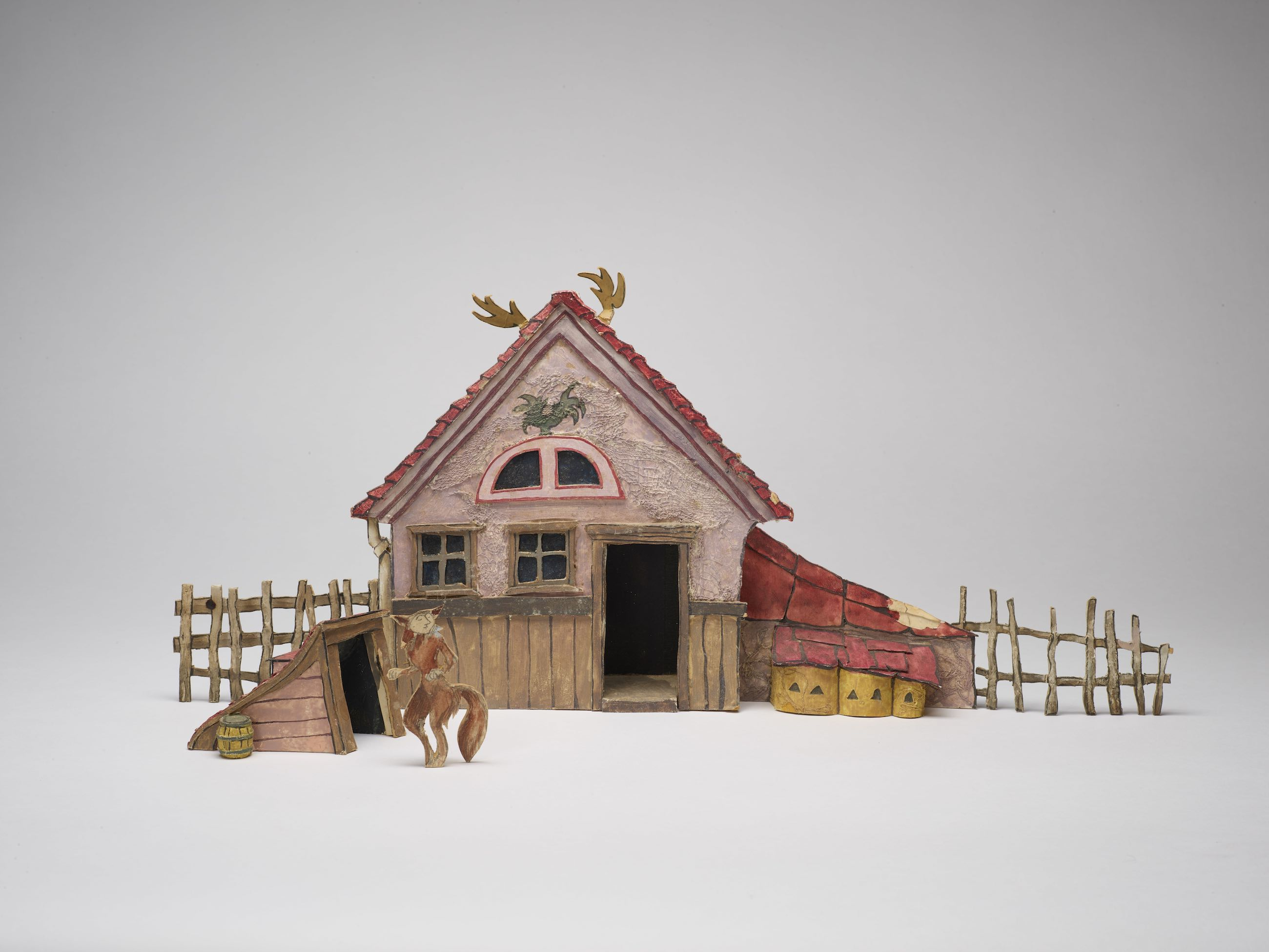 Sendak, Maurice, Model of stage set for the forester's farmyard (The Cunning Little Vixen)