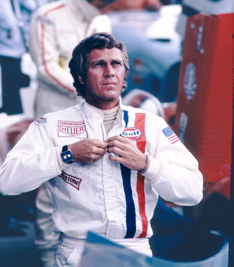Steve McQueen in Le Mans wearing the TAG Heuer Monaco watch