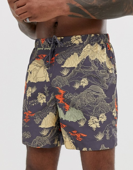 Weekday Apex Map Swim Shorts