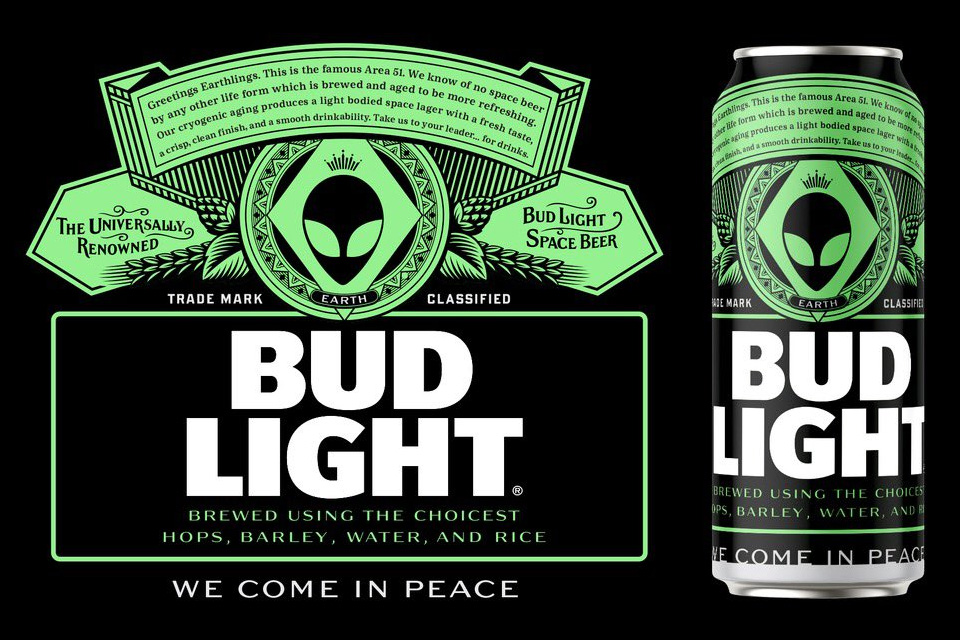 Bud Light Area 51 Special Edition Lable