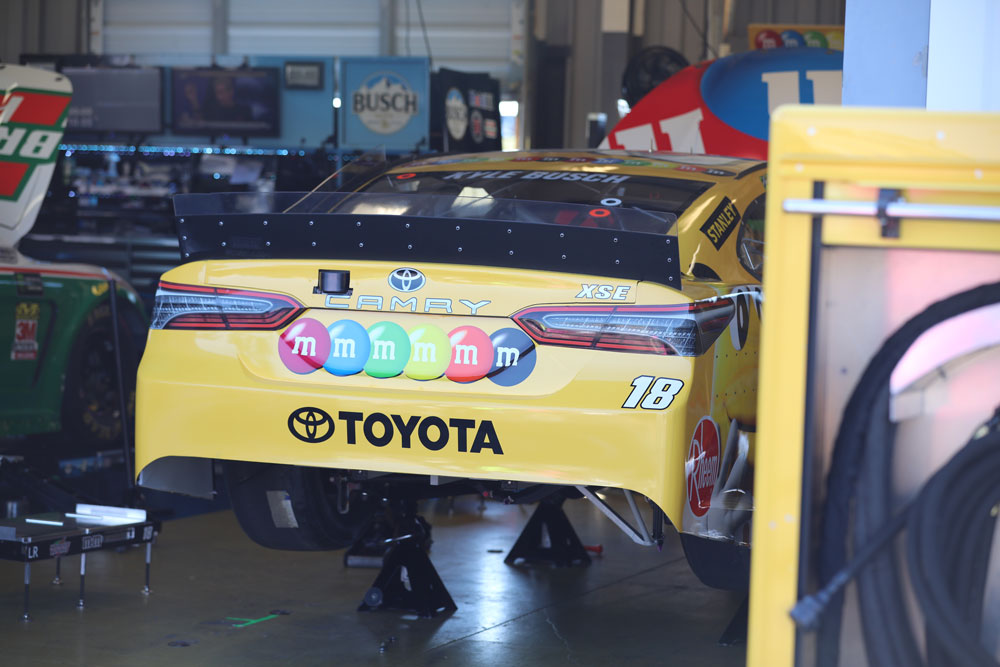 Garage tour of Kyle Busch's Camry