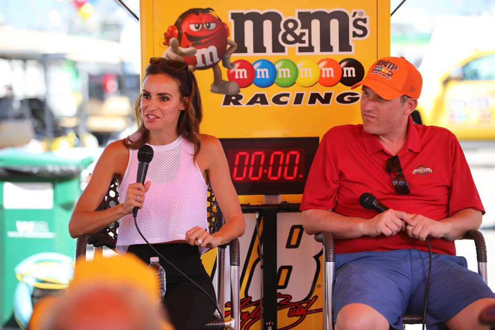 Samantha Busch (Kyle Busch's wife) speaks with us at the Kentucky Speedway