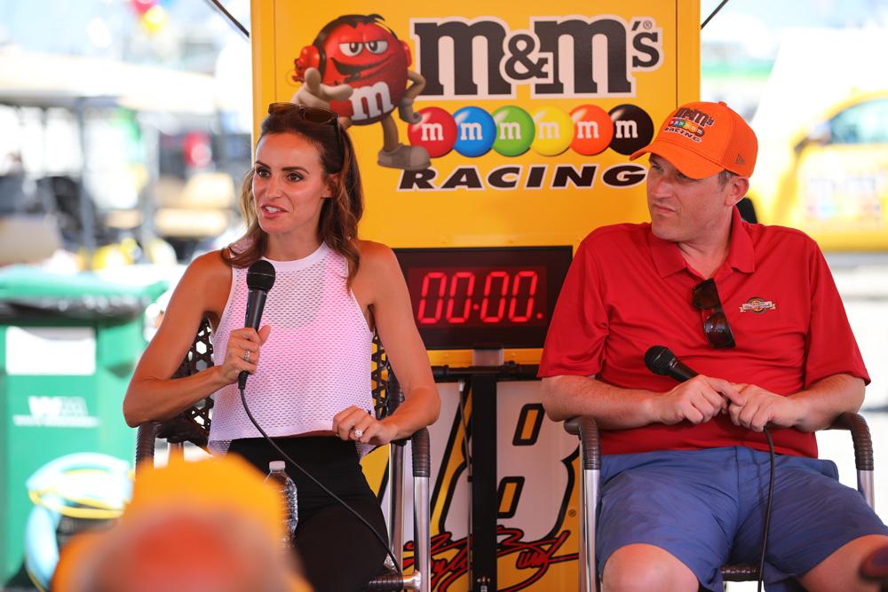 Samantha Busch (Kyle Busch's wife) speaks with us at the Kentucky Speedway