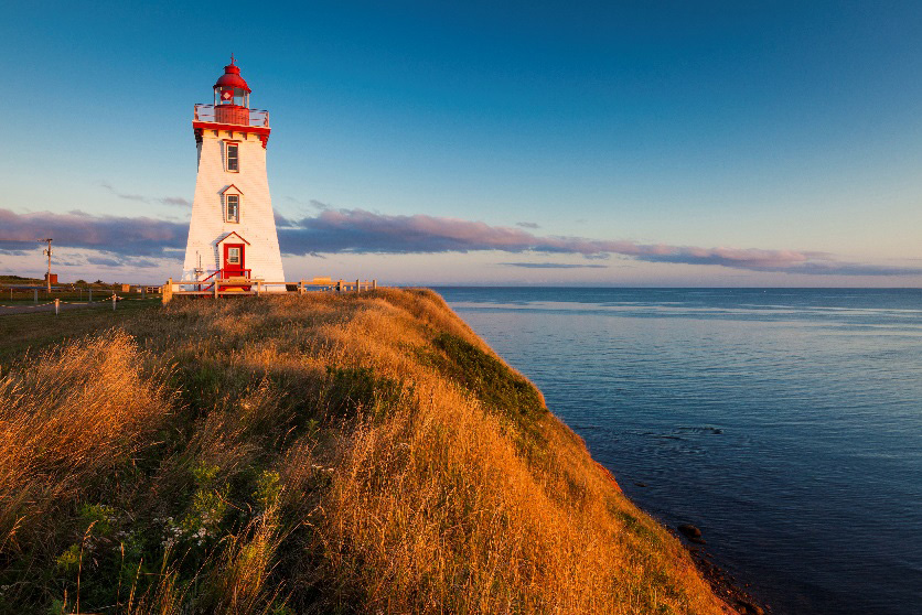 The lighthouse on the coast is a must stop in Atlantic Canada