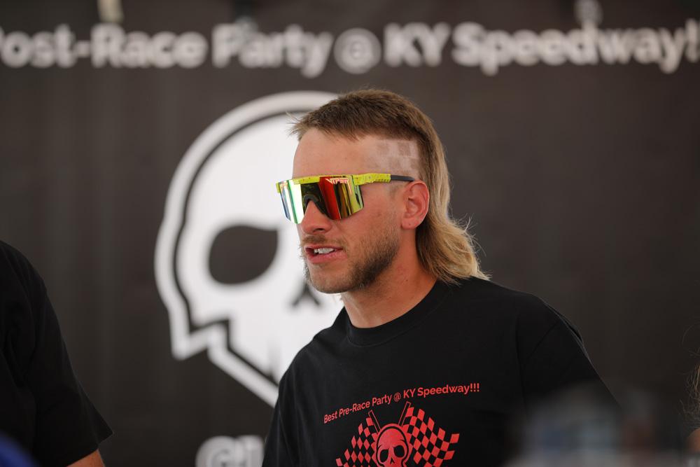 NASCAR hair cut - checkered flag hair