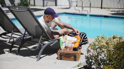 Snacking poolside with popchips