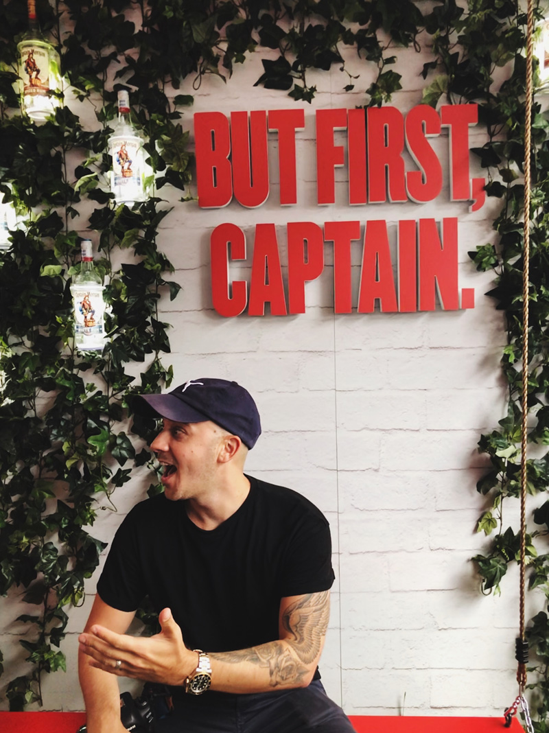 But first, Captain - Captain Morgan photo wall at the MLS All-Star game