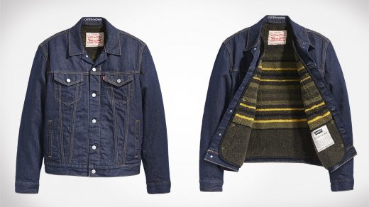Levis Wellthread x Outerknown Sherpa-Lined Trucker