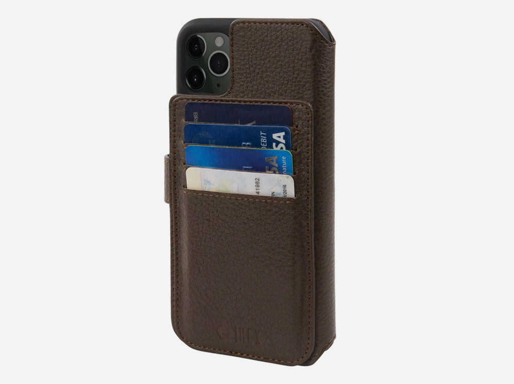 HEX Brown Leather iPhone 11 Case