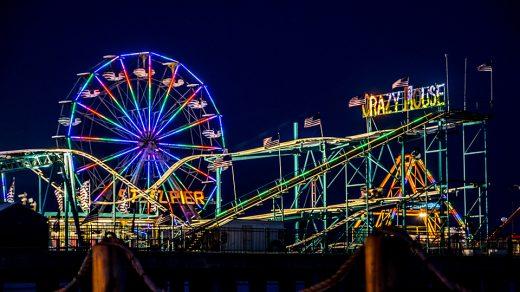 New Jersey Boardwalk at night