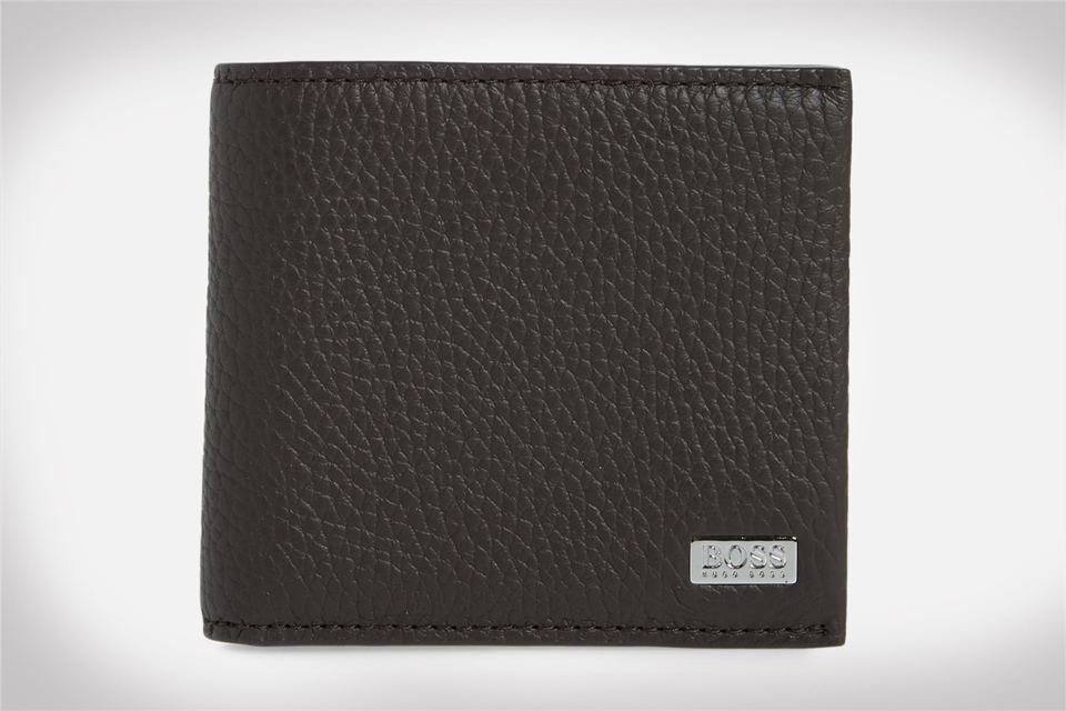 BOSS Crosstown 8-Card Leather Wallet