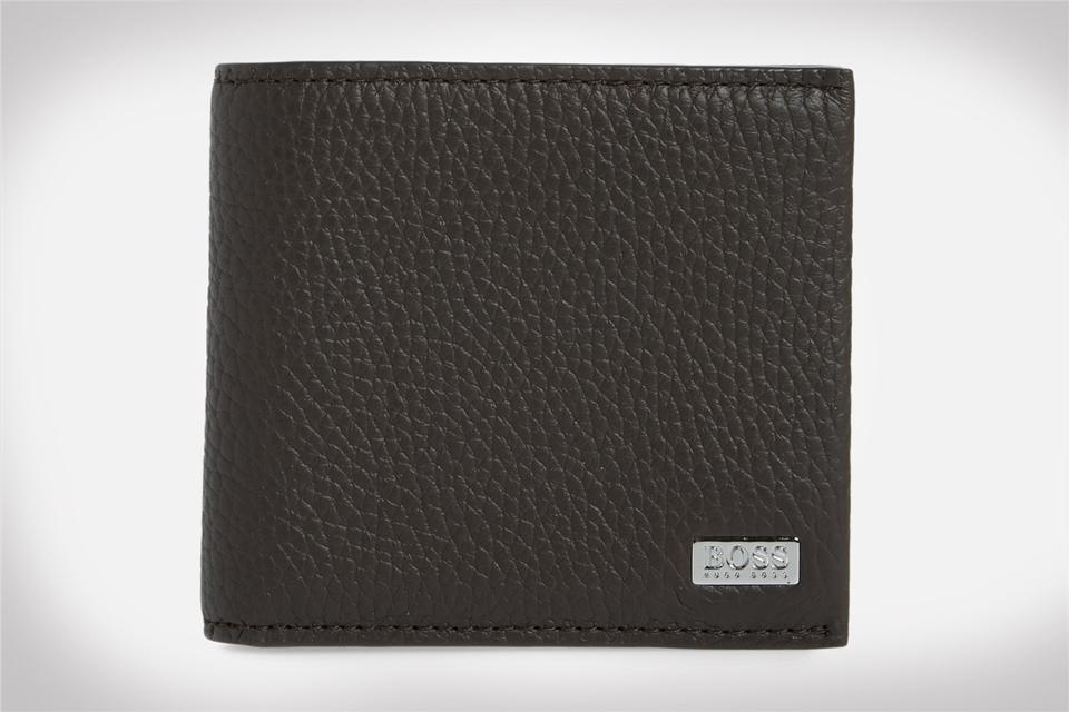 BOSS Crosstown 8-Card Leather Wallet