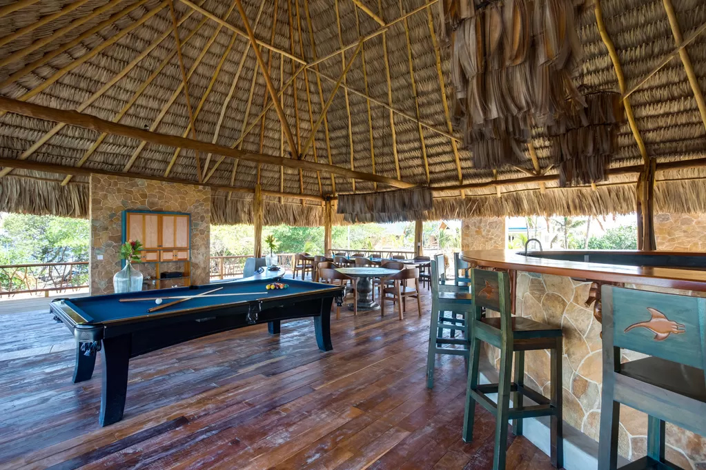 Kanu Private Island's lounge area