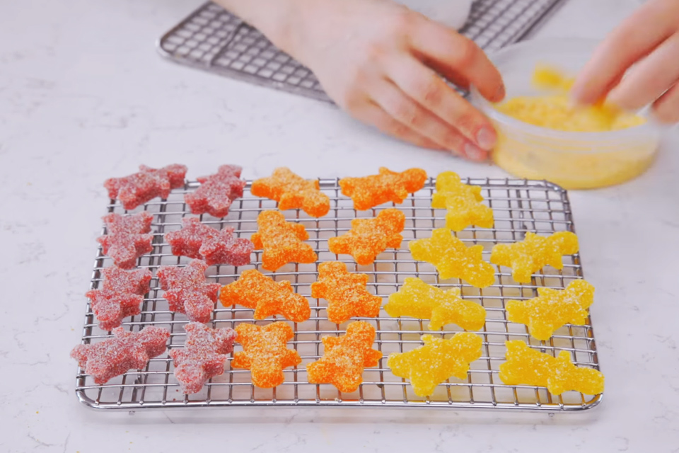 Homemade gourmet Sour Patch Kids