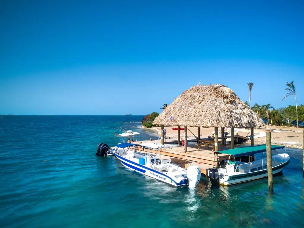 Boats on Kanu Private Island property