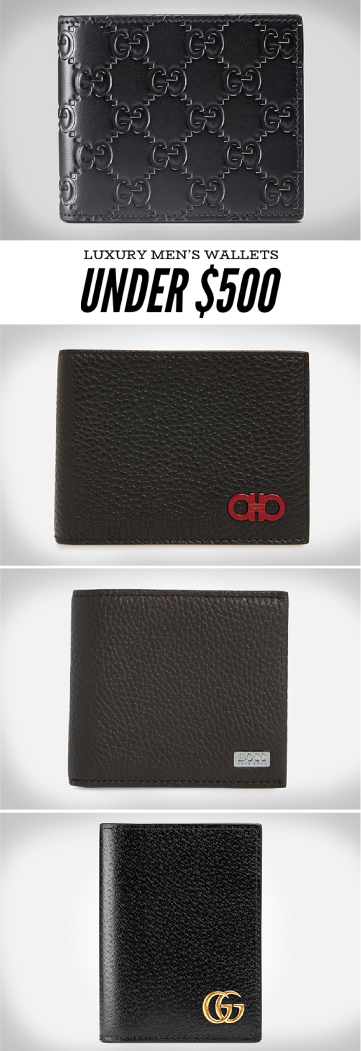 Luxury wallets for men under $500