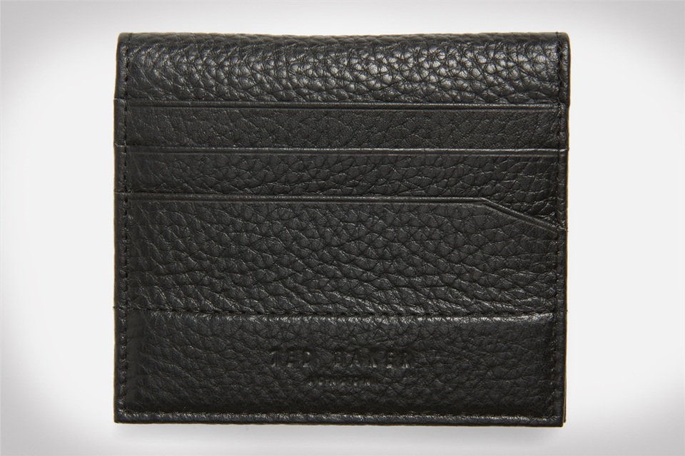 Ted Baker London Steemer Leather Bi-fold Card Holder