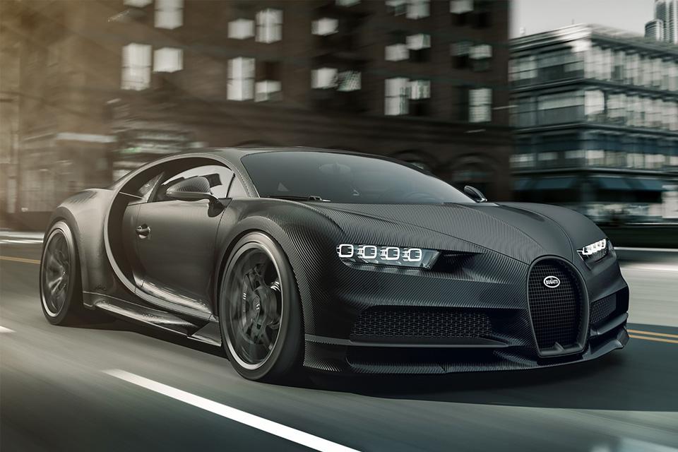 Bugatti Chiron Hypercar Noire Sportive
