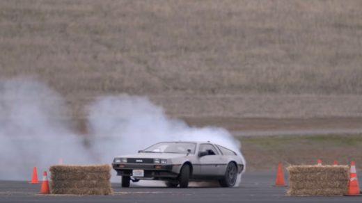 Driverless Drifting DeLorean