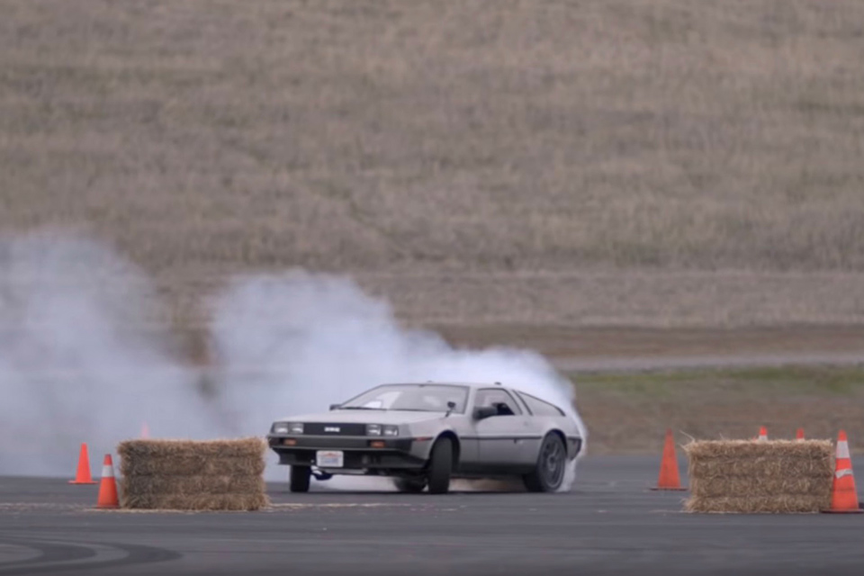Driverless Drifting DeLorean