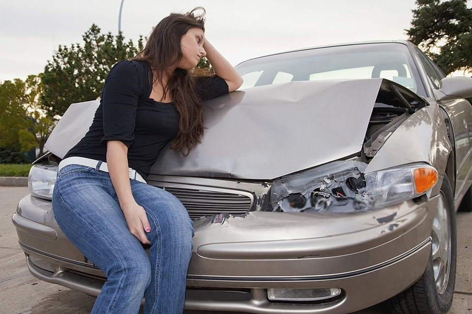 Handling a car accident