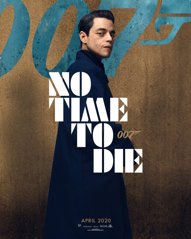 Rami Malek - 'NO TIME TO DIE' Character Poster