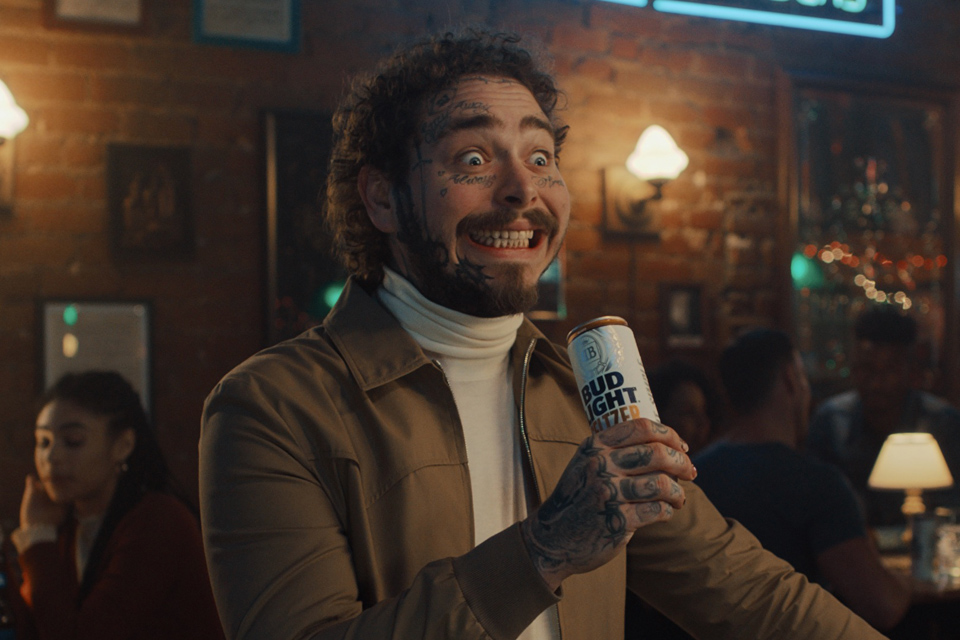 Bud Light Seltzer's Super Bowl Ad Goes Into Post Malone's Brain