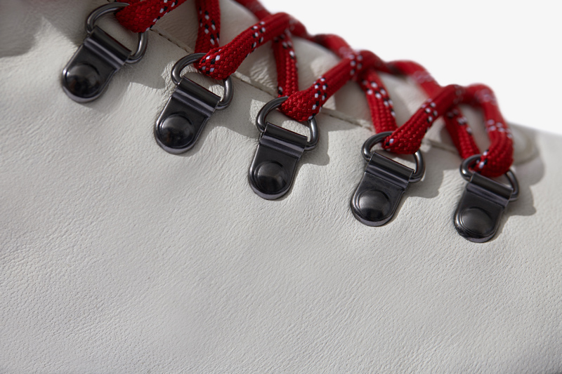 Close-up of The Dante laces