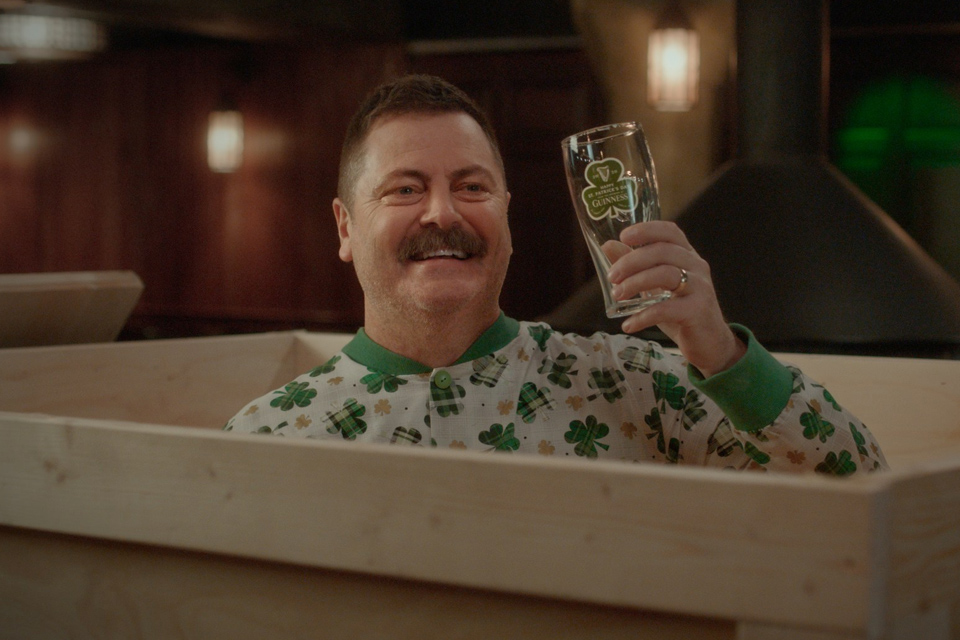 Guinness Partners with Nick Offerman for St. Patrick's Day