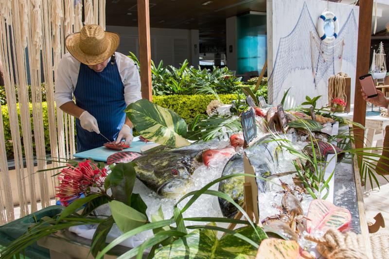 Villa Premiere Chef preparing fresh seafood