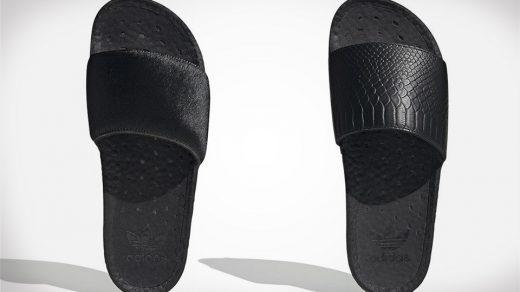adidas Adilette slides Pony and Snakeskin