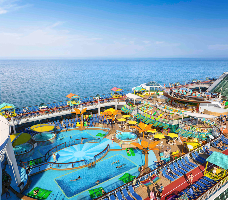 Caribbean Poolscape - Freedom of the Seas