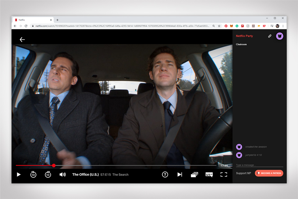 Netflix Party Chrome Extension