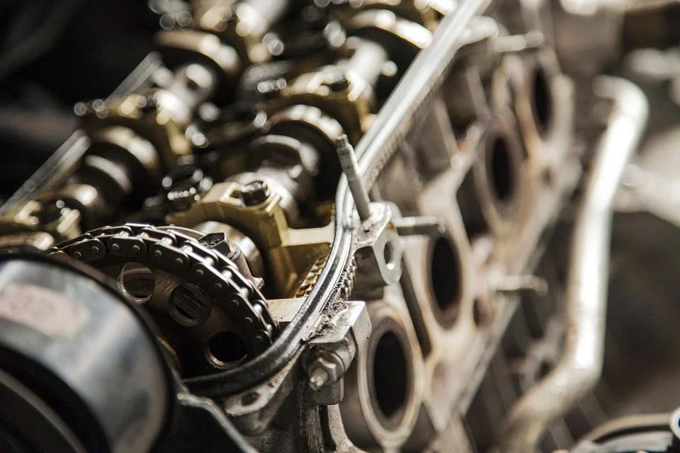 Closeup of engine