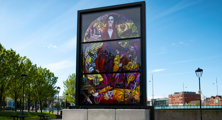 Glass of Thrones Stained Glass in Belfast, Ireland