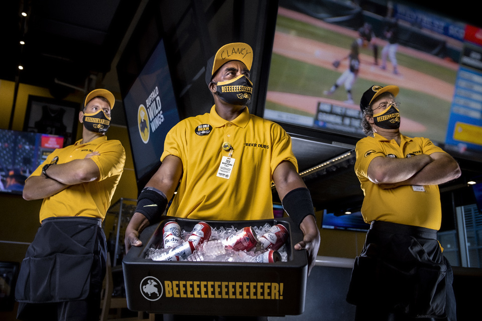Buffalo Wild Wings beer vendors