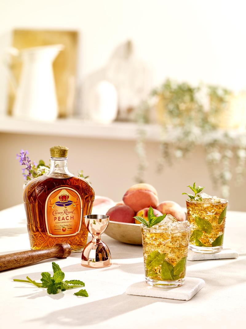 Peach whisky mint julep recipe