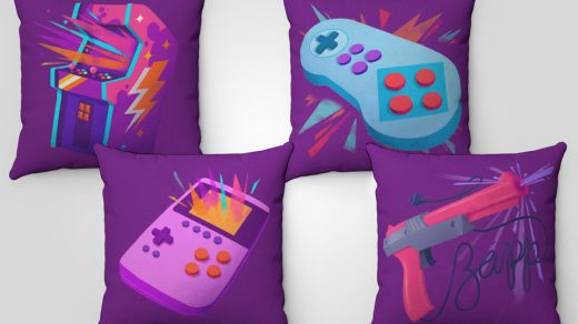 Retro-Style Gamer Pillows