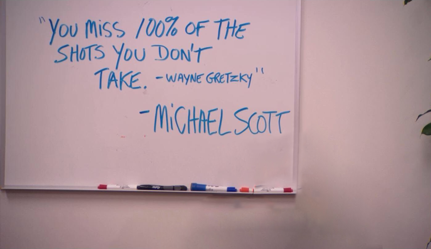 Michael Scott Wayne Gretzky Quote - The Office Zoom Backgorund