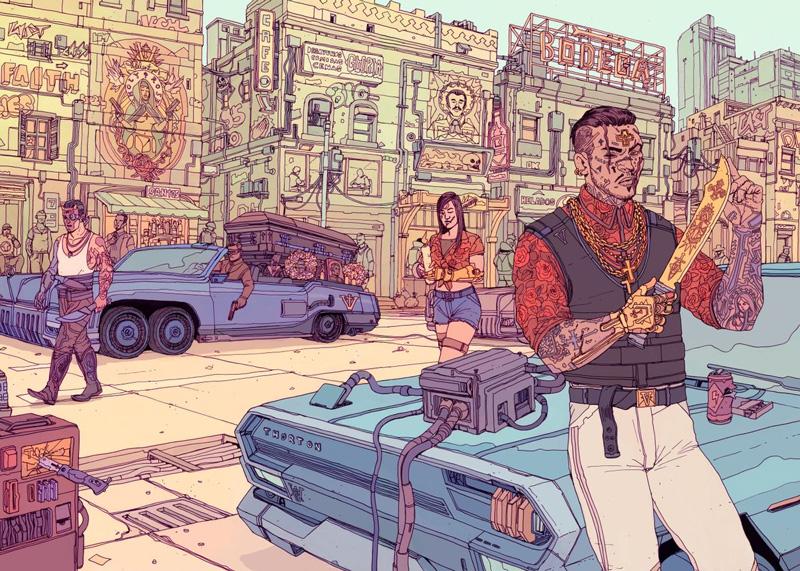 Valentinos by Deathburger - cyberpunk 2077 posters
